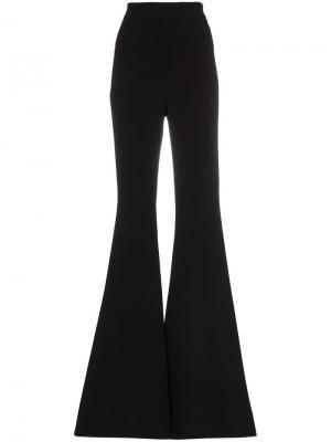 Креповые расклешенные брюки с завышенной талией Balmain. Цвет: черный