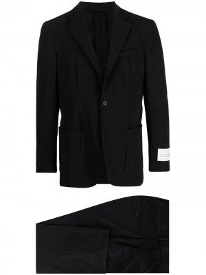 Костюм с однобортным пиджаком Traiano Milano. Цвет: черный