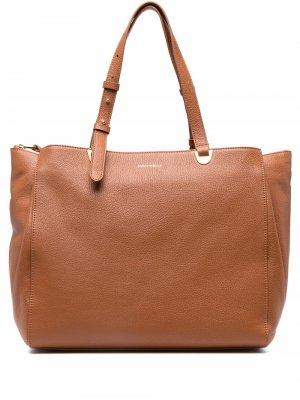 Большая сумка-тоут Lea Coccinelle. Цвет: коричневый