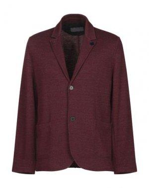 Пиджак DANIELE FIESOLI. Цвет: красно-коричневый