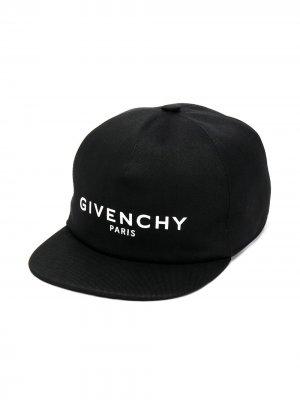 Бейсболка с логотипом Givenchy Kids. Цвет: черный