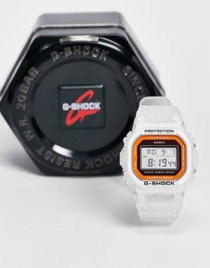 Белые электронные часы G-shock DW-5600LS-7-Белый Casio
