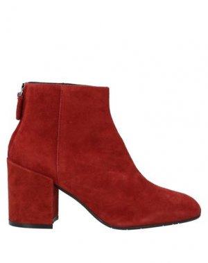 Полусапоги и высокие ботинки J|D JULIE DEE. Цвет: ржаво-коричневый