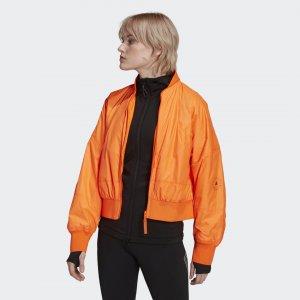 Куртка-бомбер для фитнеса by Stella McCartney adidas. Цвет: оранжевый