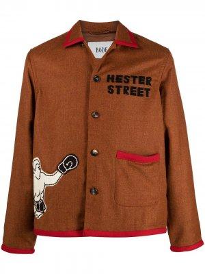 Куртка-рубашка Boxing BODE. Цвет: красный
