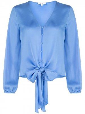 Блузка с завязками Milly. Цвет: синий