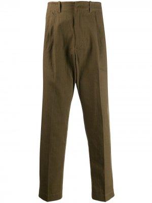 Классические брюки чинос Qasimi. Цвет: зеленый