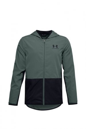 Куртка UA Woven Track Jacket Under Armour. Цвет: синий