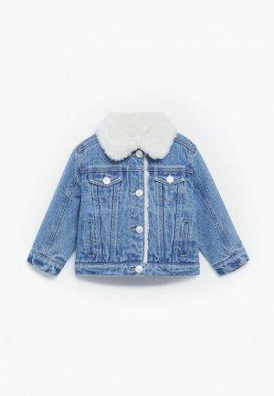 Куртка джинсовая Mango Kids LISA. Цвет: синий