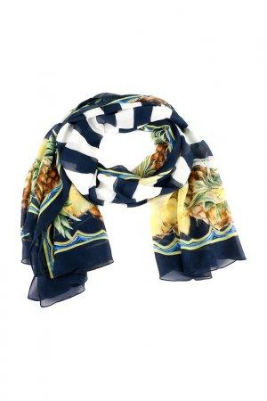 Палантин Dolce&Gabbana. Цвет: синий, белый, желтый