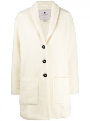 Однобортное пальто-кардиган Woolrich. Цвет: нейтральные цвета
