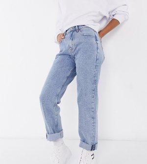 Светло-синие прямые джинсы с сильно завышенной талией -Синий Tommy Jeans