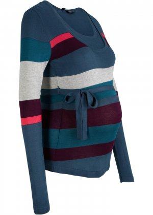 Пуловер для беременных и кормящих мам bonprix. Цвет: синий