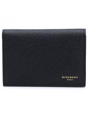 Складная визитница Givenchy. Цвет: черный