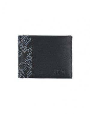 Бумажник VERSACE JEANS COUTURE. Цвет: черный