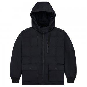 Down Mid Length Coated Canvas Hooded Jacket Converse. Цвет: чёрный