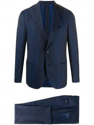 Delloglio полосатый костюм с однобортным пиджаком Dell'oglio. Цвет: синий