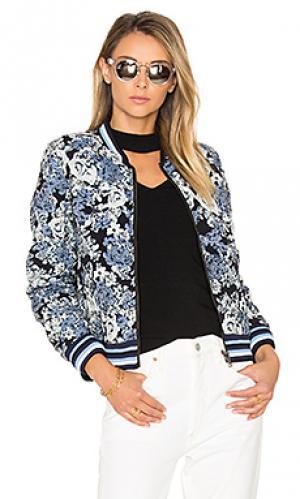 Куртка-бомбер с цветочным рисунком BLANKNYC. Цвет: синий