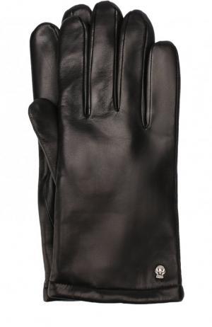 Кожаные перчатки с кашемировой подкладкой Roeckl. Цвет: черный