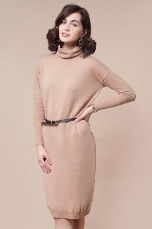 Платье вязаное VILATTE. Цвет: бежевый