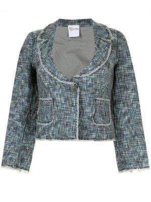 Пиджак с глубоким вырезом Valentino Garavani Pre-Owned. Цвет: синий