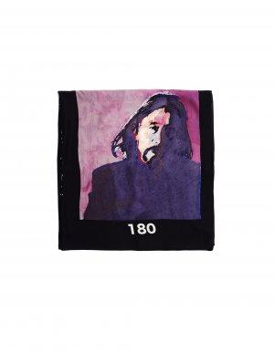 Шелковый платок с фотопринтом Yohji Yamamoto