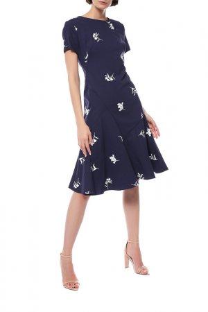 Платье Carolina Herrera. Цвет: синий