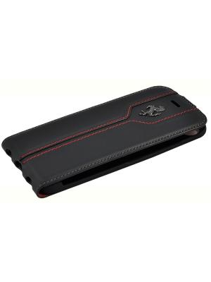 Чехол Ferrari для iPhone 7 Montecarlo Flip Leather Black. Цвет: черный