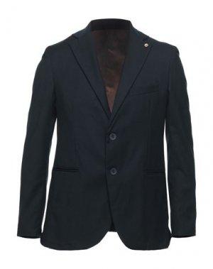 Пиджак OUT/FIT. Цвет: темно-синий