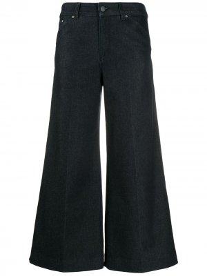 Расклешенные джинсовые кюлоты Karl Lagerfeld. Цвет: синий