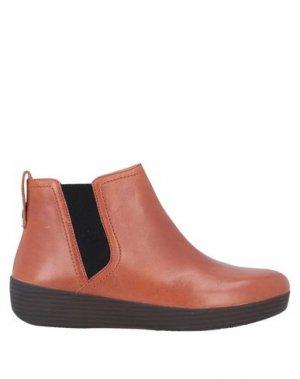Полусапоги и высокие ботинки FITFLOP. Цвет: коричневый