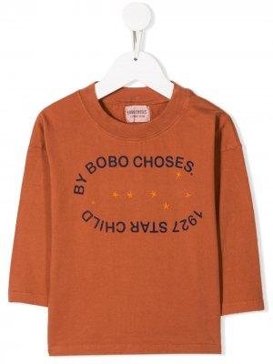 Толстовка Star Child Bobo Choses. Цвет: оранжевый