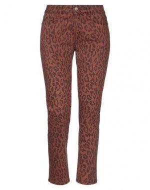 Джинсовые брюки KARTIKA. Цвет: коричневый