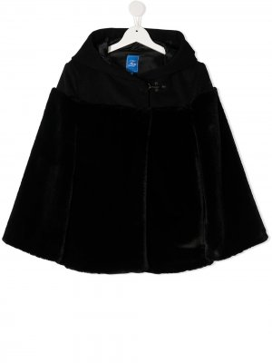 TEEN contrast hooded cape Fay Kids. Цвет: черный