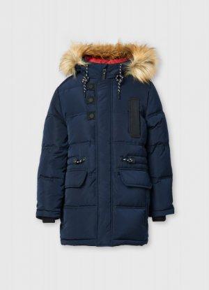Пуховая куртка для мальчиков O`Stin. Цвет: черно-синий