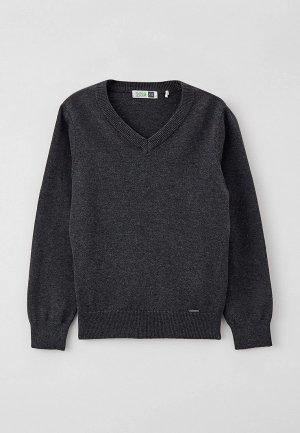 Пуловер Sela Exclusive online. Цвет: серый