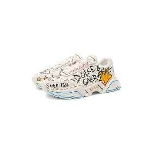 Кожаные кроссовки Daymaster Dolce & Gabbana. Цвет: разноцветный