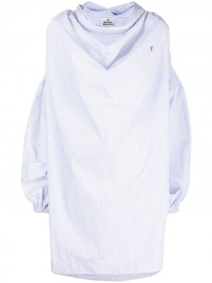 Платье-рубашка Garret в полоску Vivienne Westwood. Цвет: синий