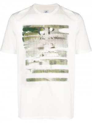 Distressed logo T-shirt CP Company. Цвет: белый