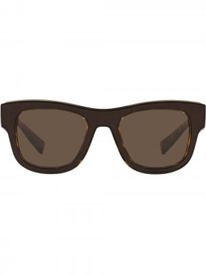 Солнцезащитные очки в квадратной оправе Dolce & Gabbana Eyewear. Цвет: коричневый