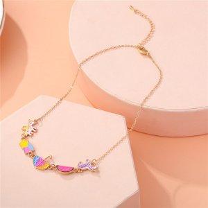 Ожерелье с зонтиком для девочек SHEIN. Цвет: многоцветный