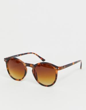Круглые солнцезащитные очки в черепаховой оправе -Коричневый Jack & Jones