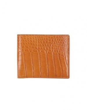 Бумажник TOM FORD. Цвет: желто-коричневый