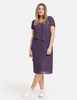 Платье -миди из ткани плиссе SAMOON Gerry Weber. Цвет: purple pennant