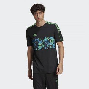Футболка Tiro Graphic Sportswear adidas. Цвет: черный