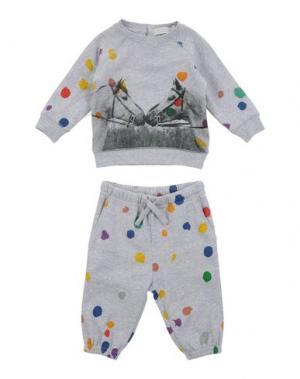 Спортивный костюм STELLA MCCARTNEY KIDS. Цвет: светло-серый