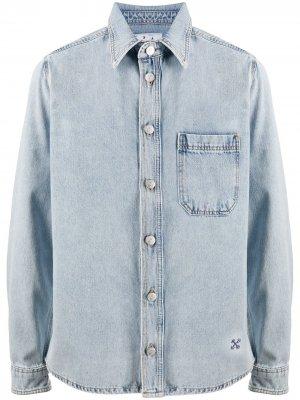 Джинсовая рубашка с логотипом Off-White. Цвет: синий