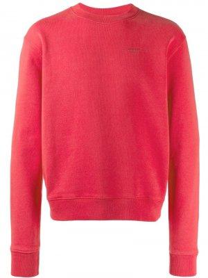Printed logo sweatshirt Off-White. Цвет: красный