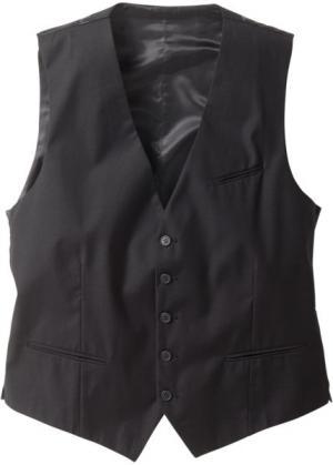 Жилет классического прямого покроя regular fit (серый меланж) bonprix. Цвет: серый меланж