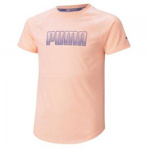Детская футболка Runtrain Youth Tee PUMA. Цвет: розовый